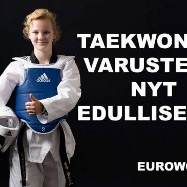 Taekwondo varusteita uskomattomalla hinnalla