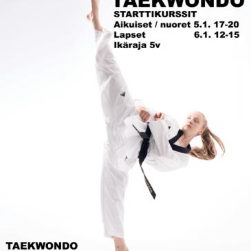 Taekwondon starttikurssit tammikuussa 2017