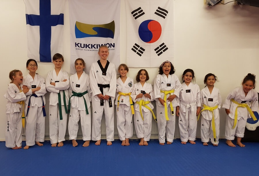 Taekwondo harjoitukset lapsille